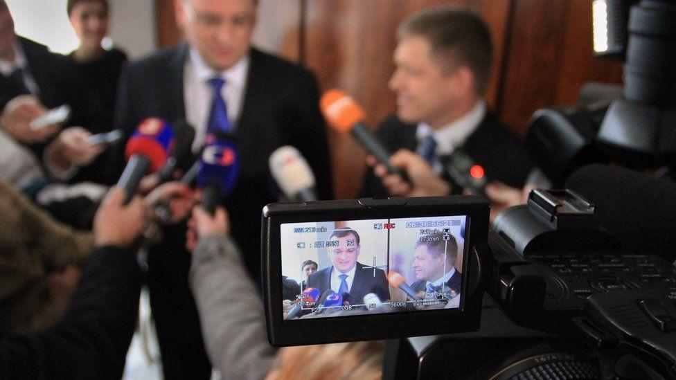 Czech TV camera shot