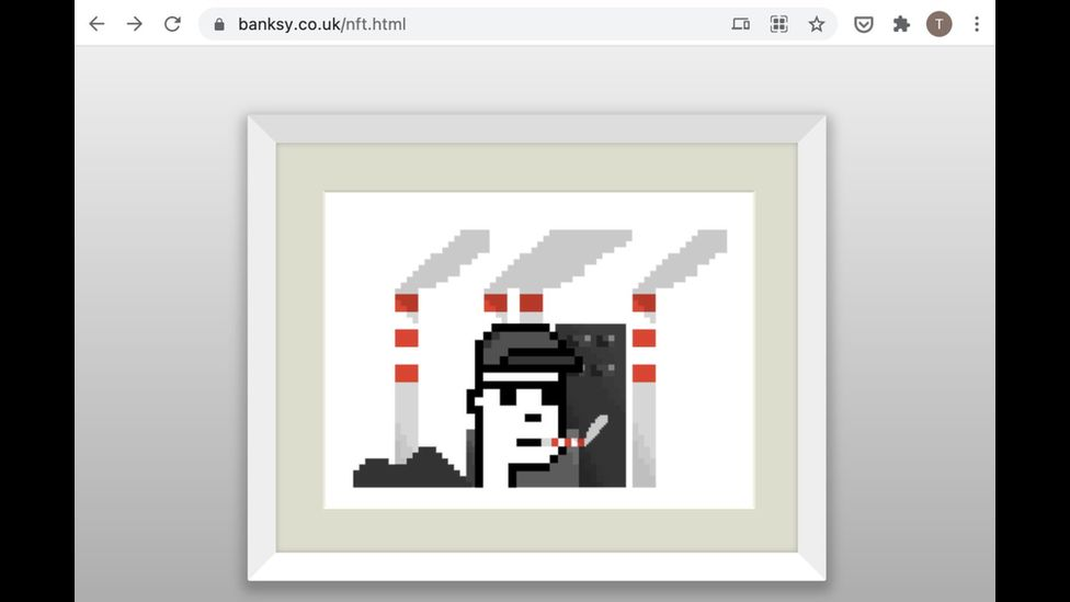 banksy fake NFT on his site