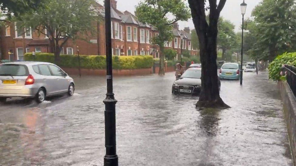 Flooding in North Kensington