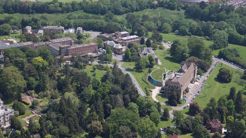Exeter university aerial view