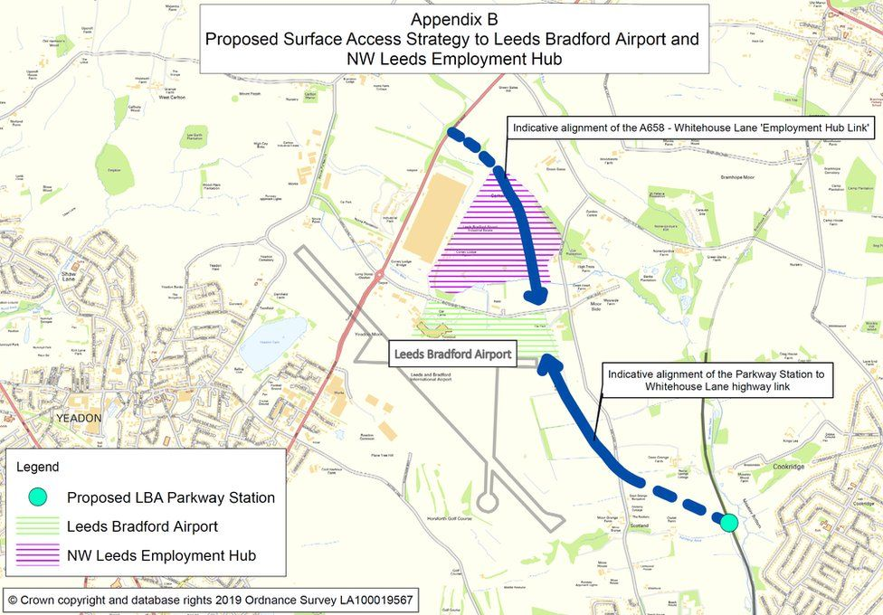 Map of link road plans