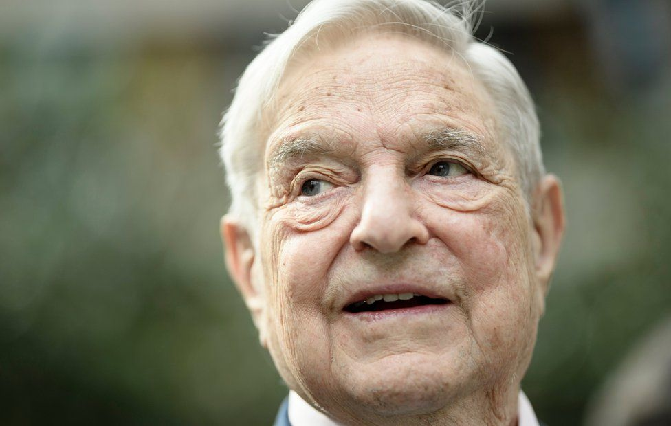 The Chairman of the Open Society Foundations, George Soros, attends a press conference prior to the European Roma Institute for Arts and Culture Launch Event at the Foreign Ministry in Berlin, Germany, 08 June 2017