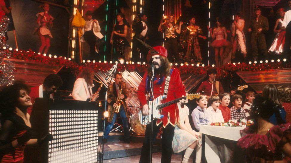 Wizzard performing on Top of the Pops in the 1970's