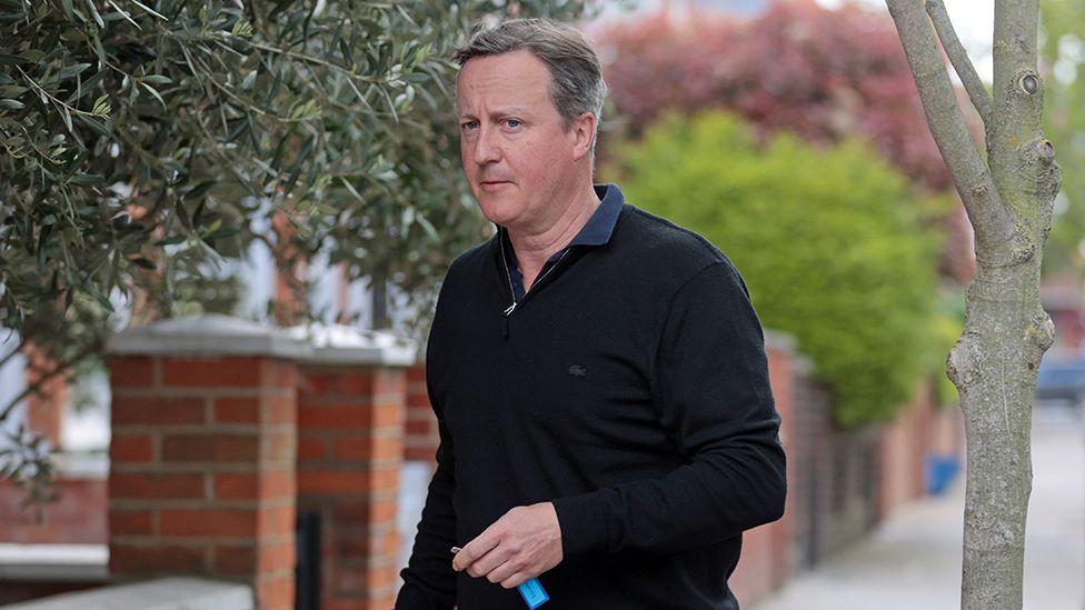 David Cameron outside his London home, 13 May 2021