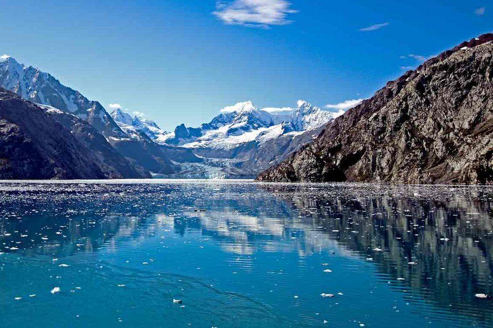 Joyce photographed Columbia glacier in Prince William Sound, Alaska, in September 2011