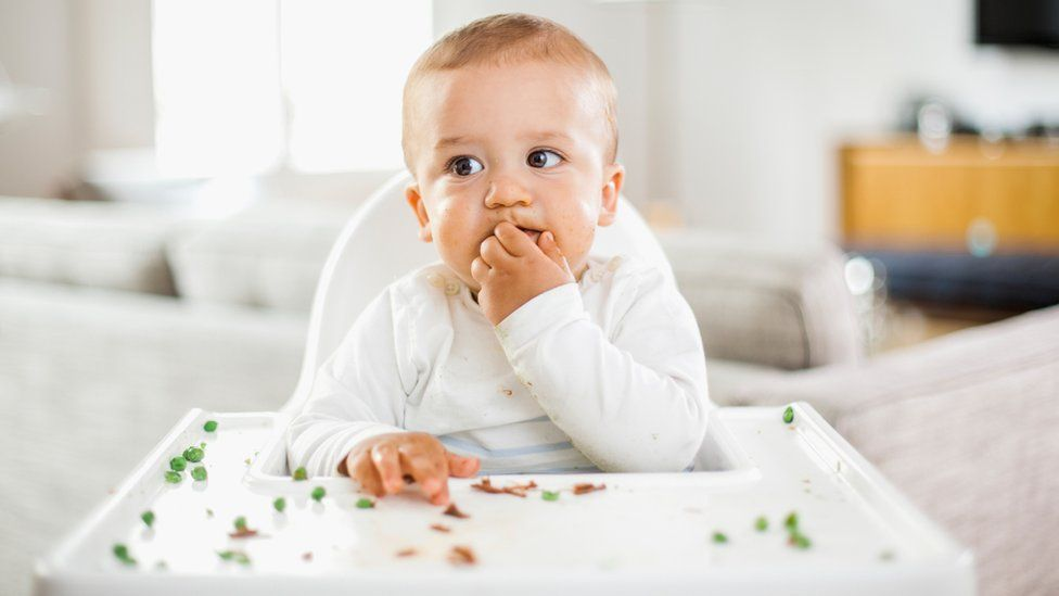 Generic image of baby eating off high chair