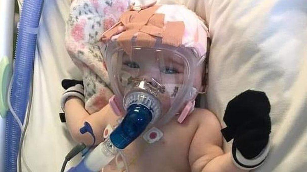 Erin Bates in hospital