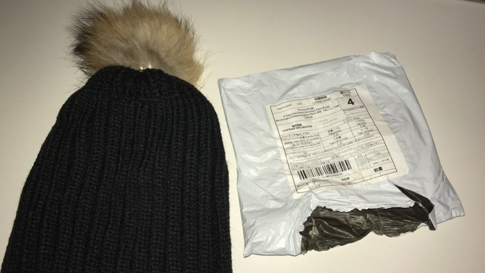 Bobble hat and packaging