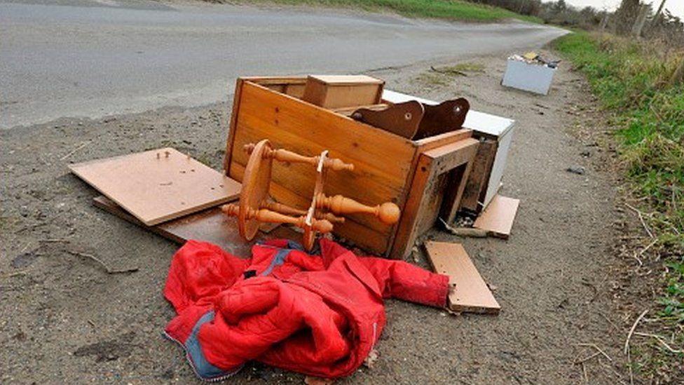 Fly-tipping example
