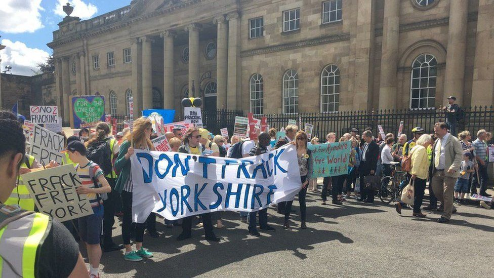 Anti-fracking rally in York
