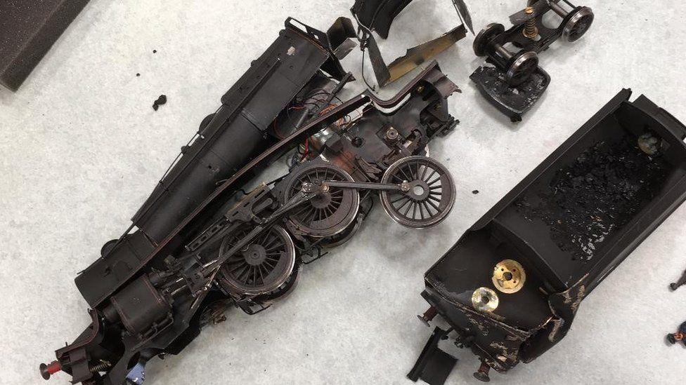 Model railway vandalised