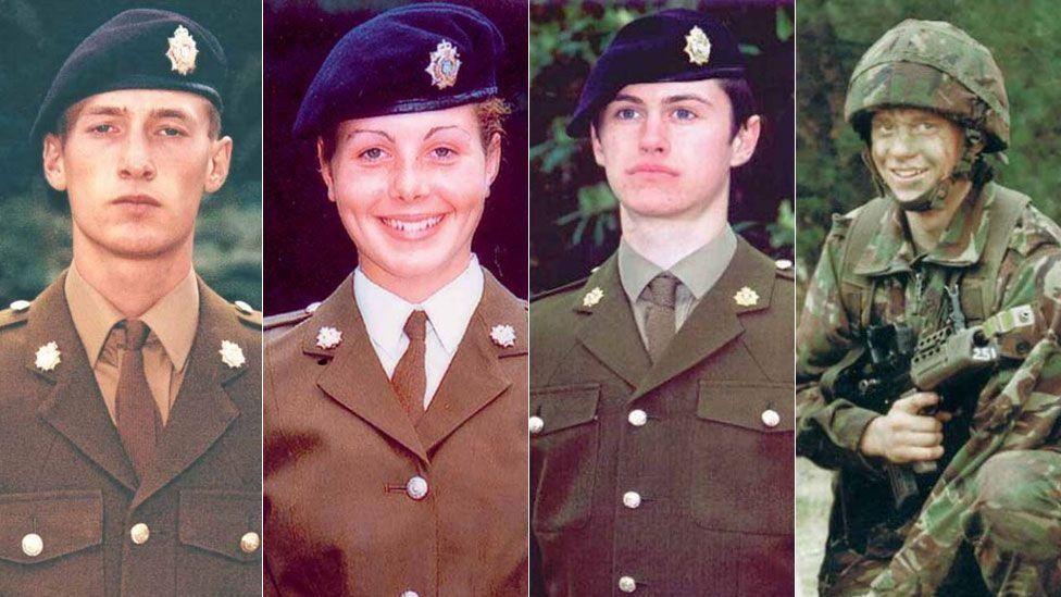 Privates Sean Benton, Cheryl James, Geoff Gray and James Collinson died between 1995 and 2002 at Deepcut barracks