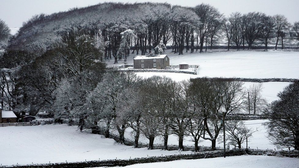 Snow in Allenheads, Northumberland