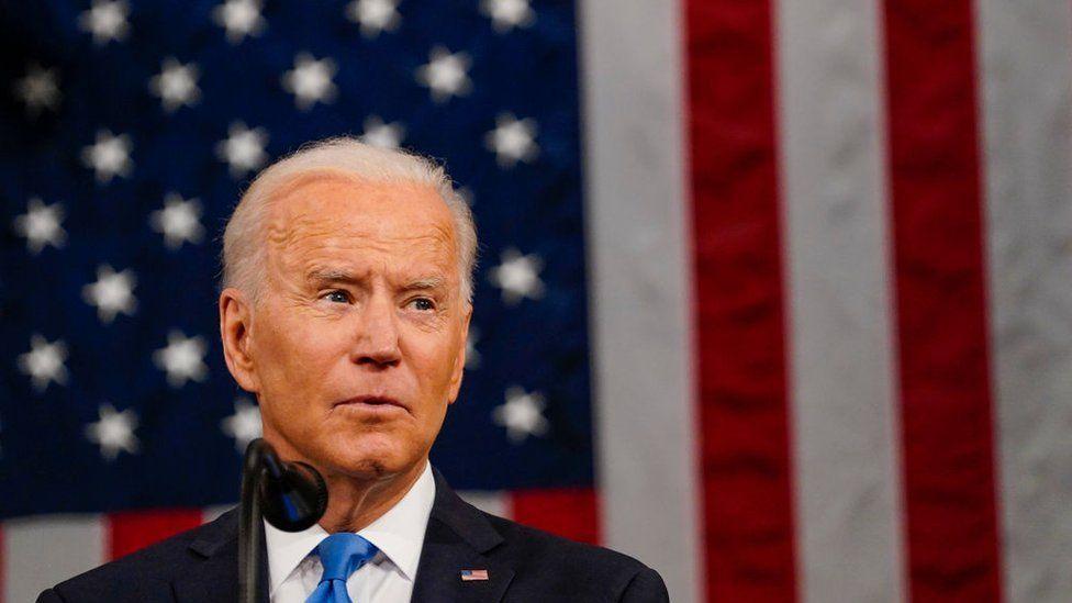 President Joe Biden speaks to Congress