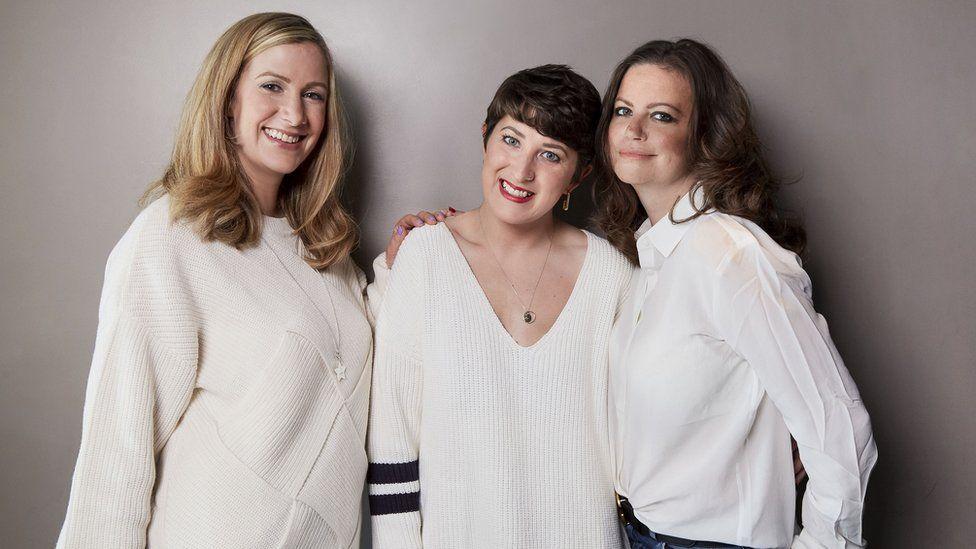 Left-right: Rachael Bland, Lauren Mahon and Deborah James