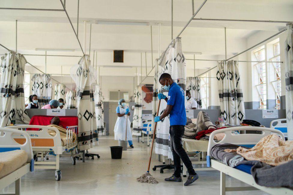 A coronavirus ward in the city of Bulawayo.