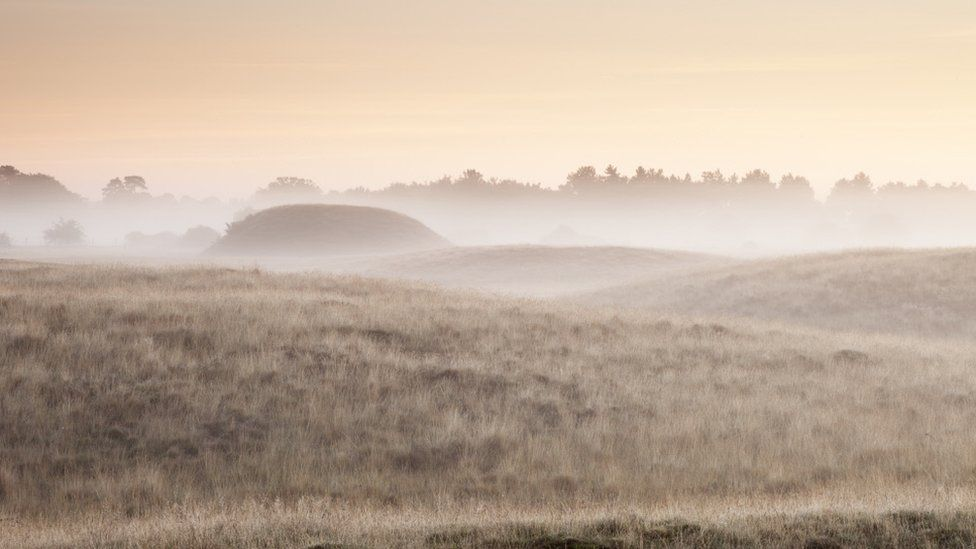 Royal burial mounds at Sutton Hoo