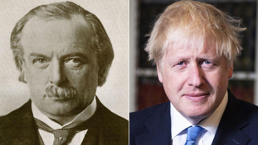 David Lloyd George and Boris Johnson
