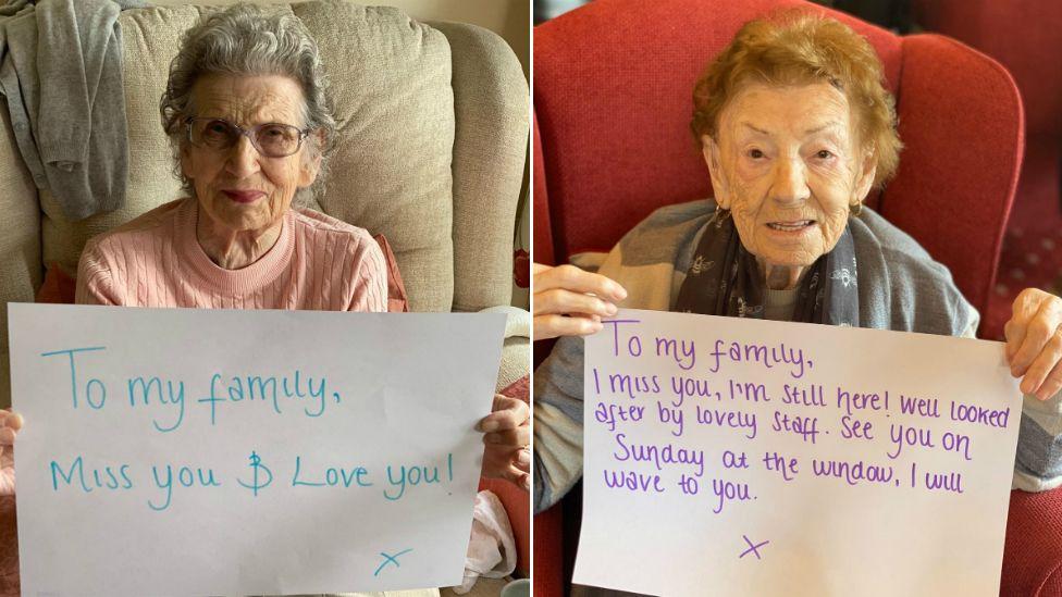 Yvonne Burden, 87 (left) and Margaret Burnett, 96