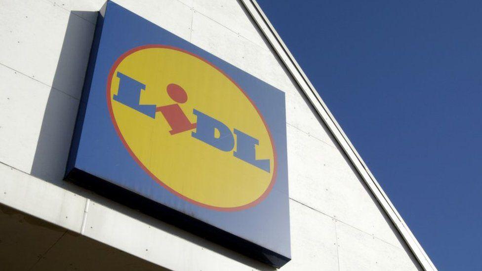 Lidl sign outside its shop
