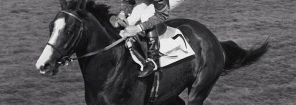 An unissued library picture of Shergar with Walter Swinburn in the saddle