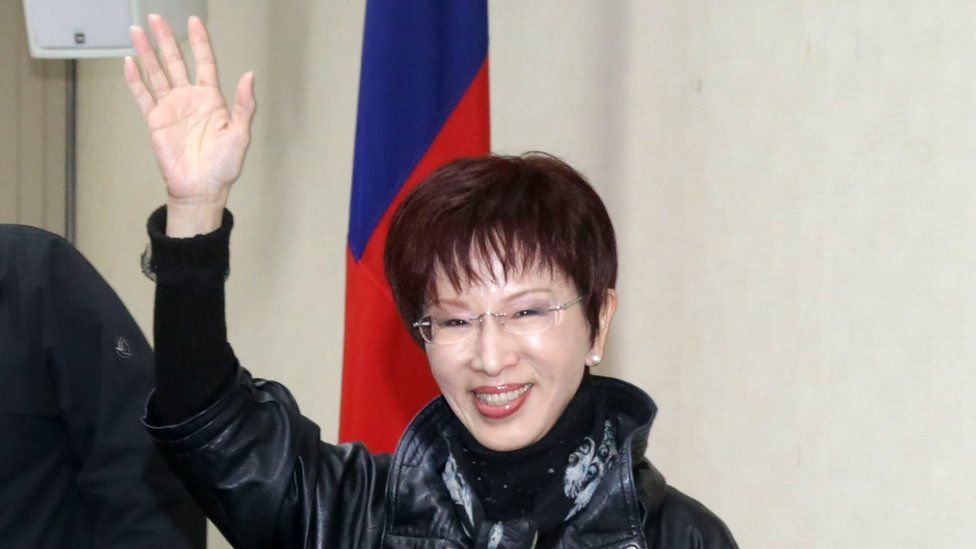 Chair of the Kuomintang party Hung Hsiu-chu.