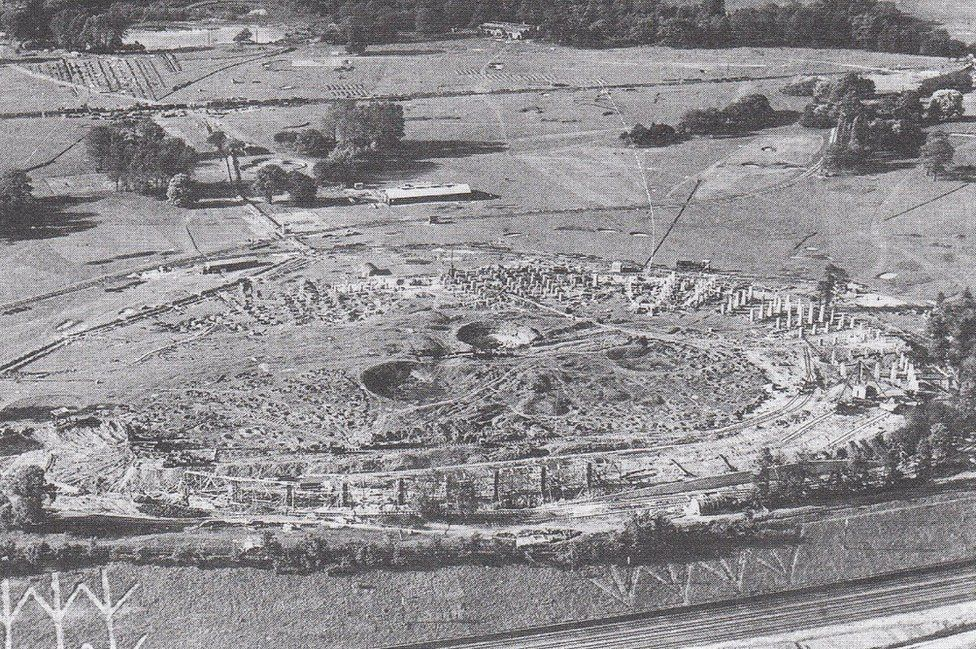 The site as Wembley was beginning to be built