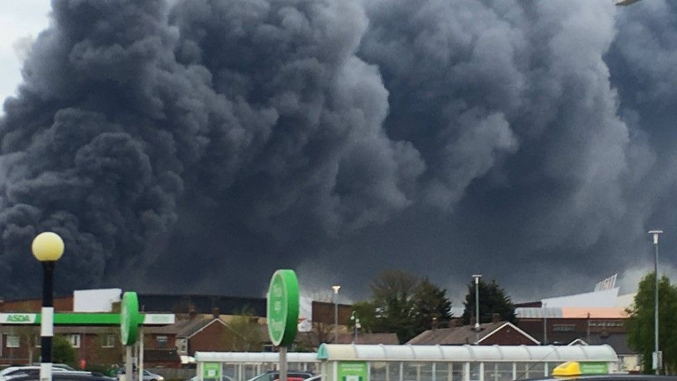 fire in Widnes