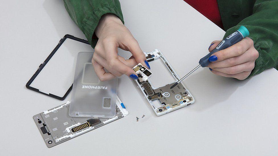 Fairphone being assembled