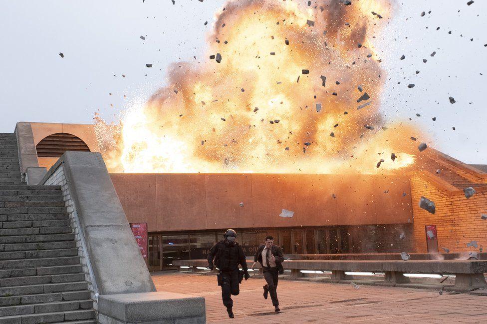 A still from Christopher Nolan's Tenet