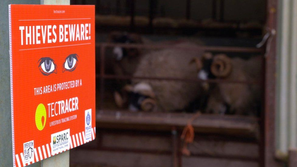 Thieves beware warning sign