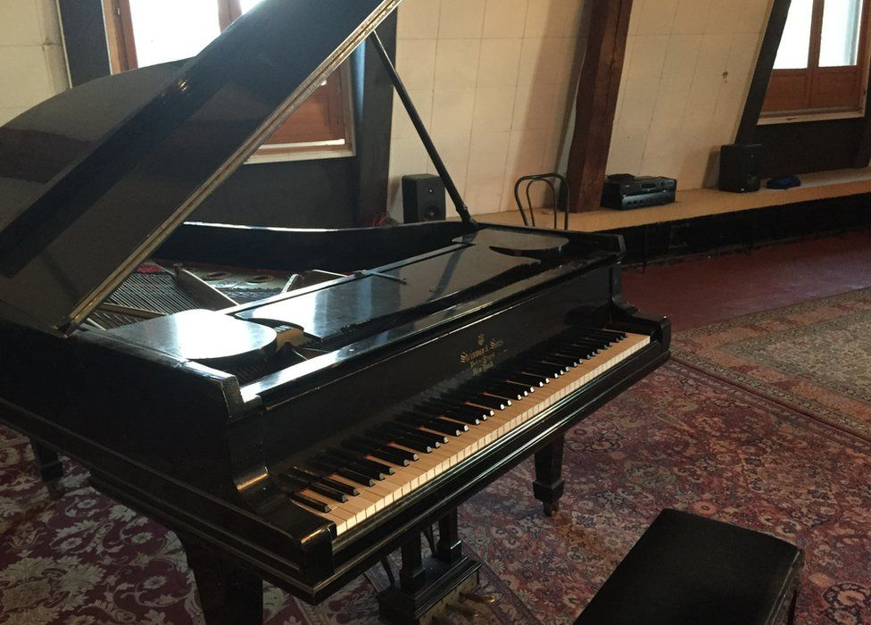 The Steinway in Honky Chateau