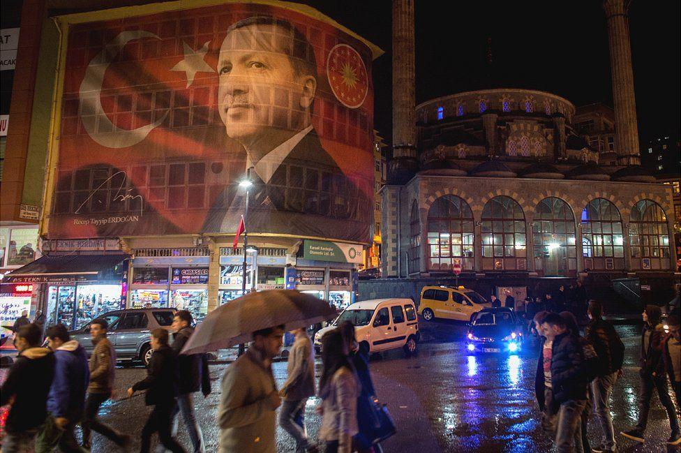 An Erdogan banner in Rize, eastern Turkey, 26 Oct 16