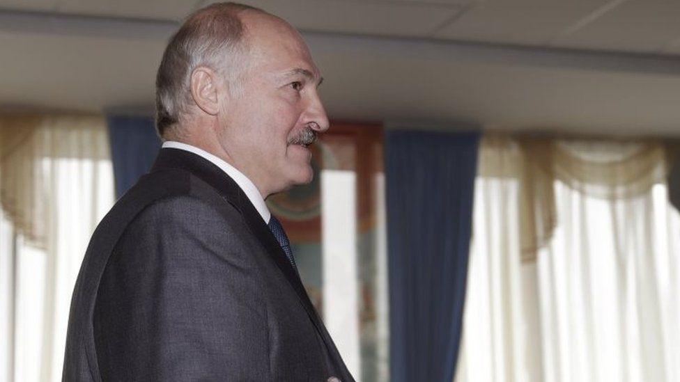 Belarusian President Alexander Lukashenko after casting his ballot in Minsk on Sunday (11 September 2016)