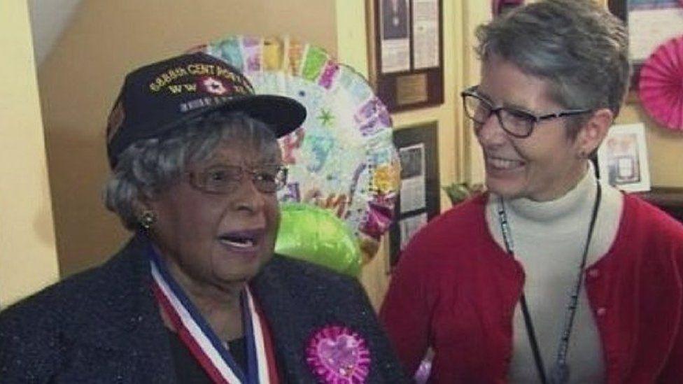 Millie Dunn Veasey at her 100th birthday celebration
