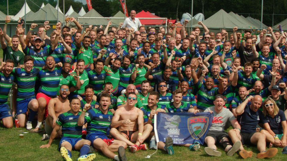 Kings Cross Steelers with other teams at the 2018 Bingham Cup