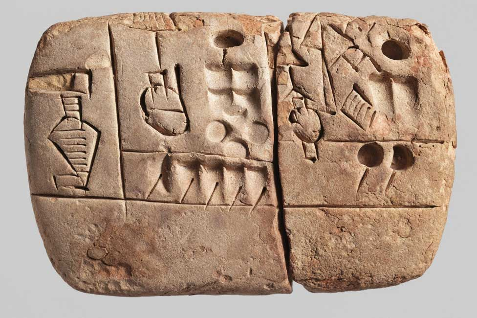 A cuneiform tablet from Uruk discussing the logistics of grain distribution