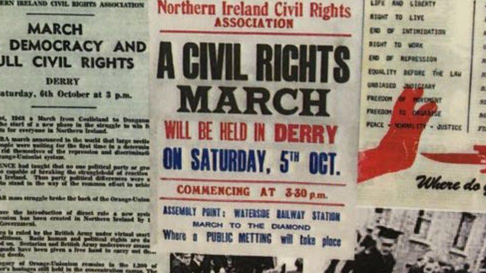 northern ireland civil rights poster