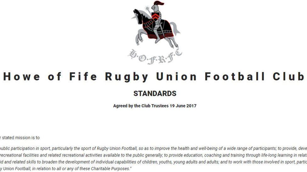 Rugby club website