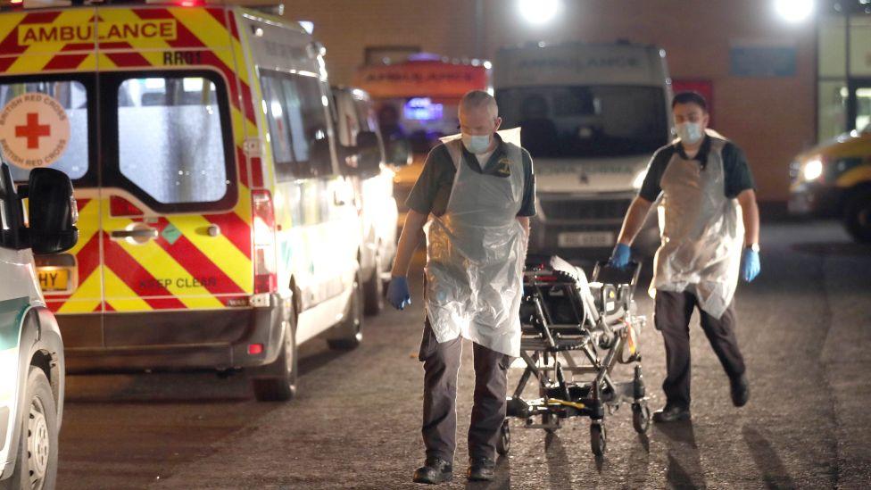 Paramedics at Antrim Area Hospital