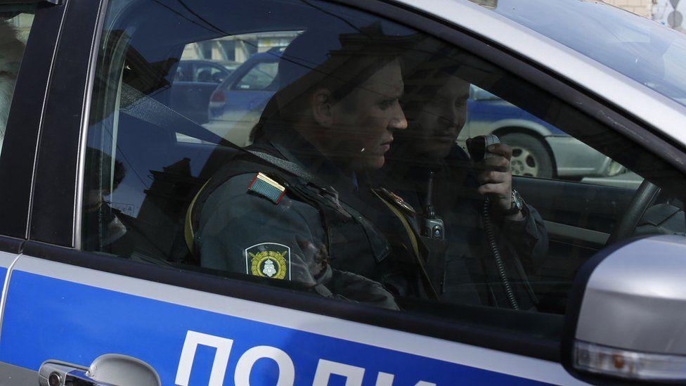 Moscow police patrol car