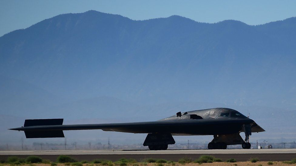A US B-2 stealth bomber