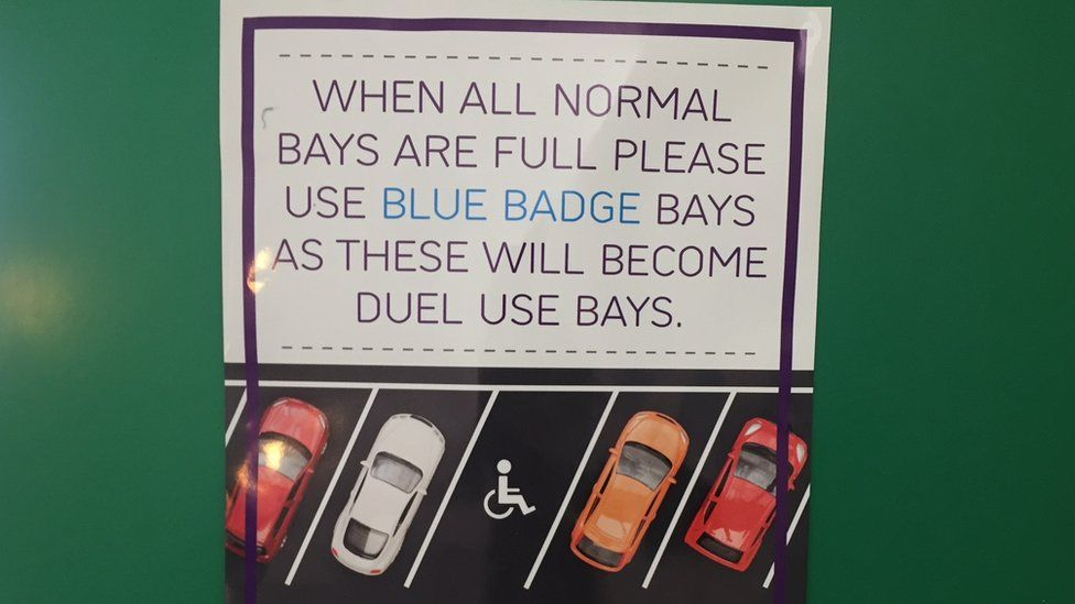 Poster in The Quadrant car park, Milton Keynes