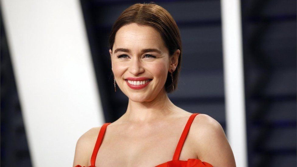 Emilia Clarke at the Academy Awards in February