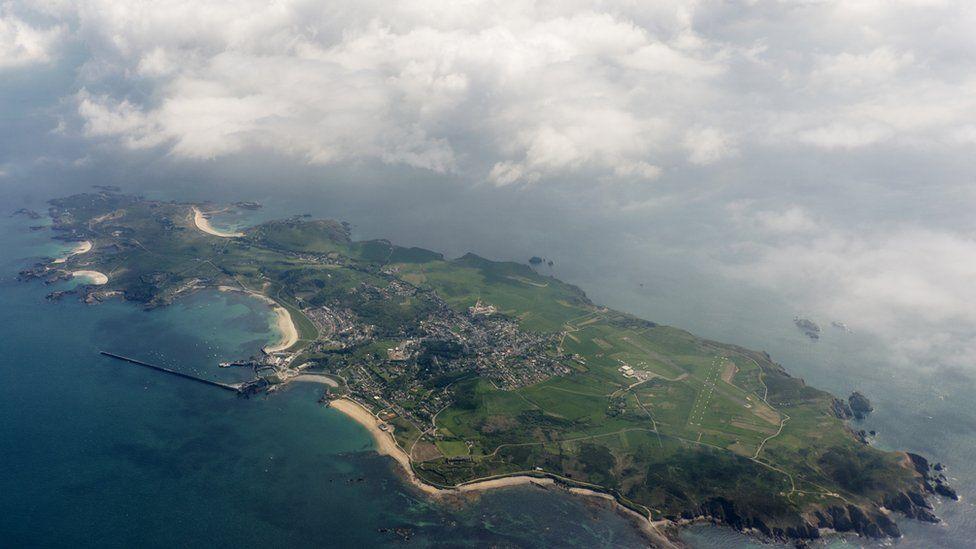 Aerial view of Alderney