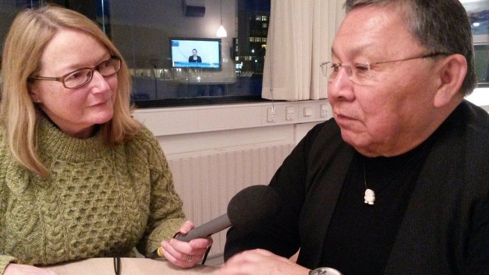 Interviewing Lars Emil Johanssen, the Speaker of the Greenlandic Parliament who was one of the key movers and shakers in Greenland's bid to leave the EEC in 1982.