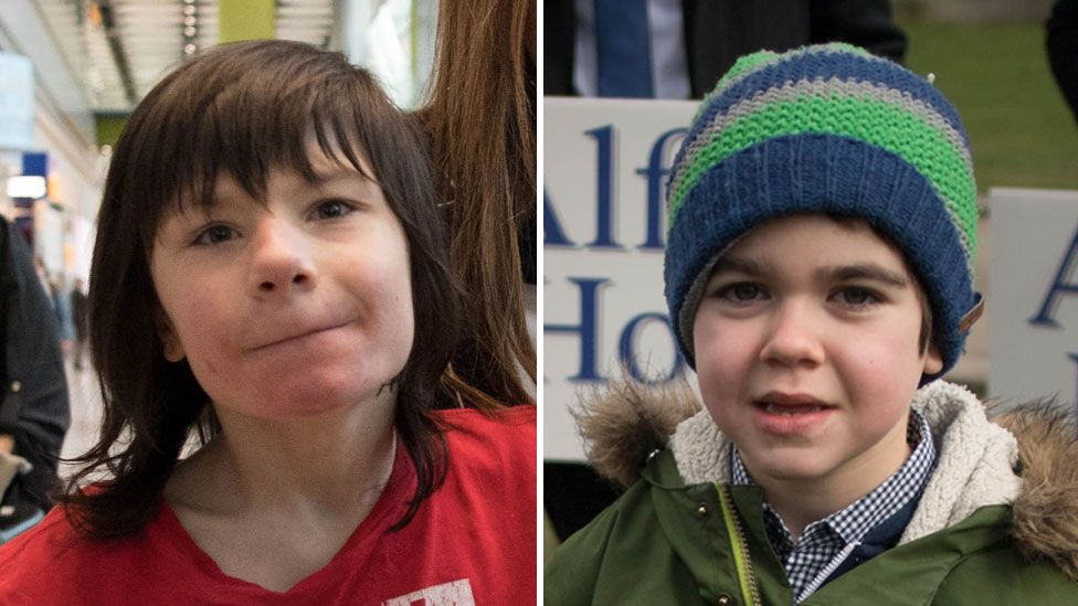 Billy Caldwell and Alfie Dingley