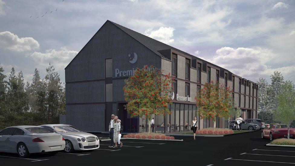 Illustration of planned Premier Inn