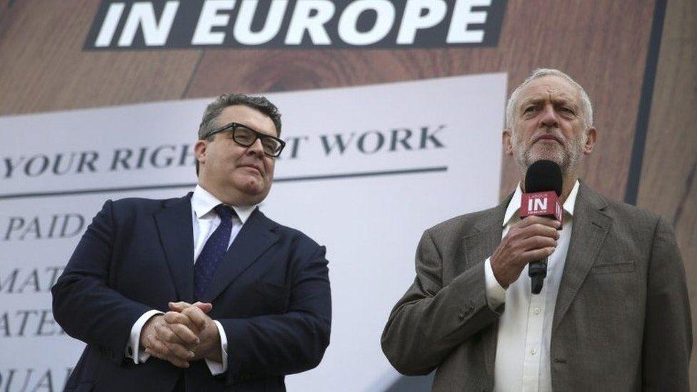 Tom Watson and Jeremy Corbyn
