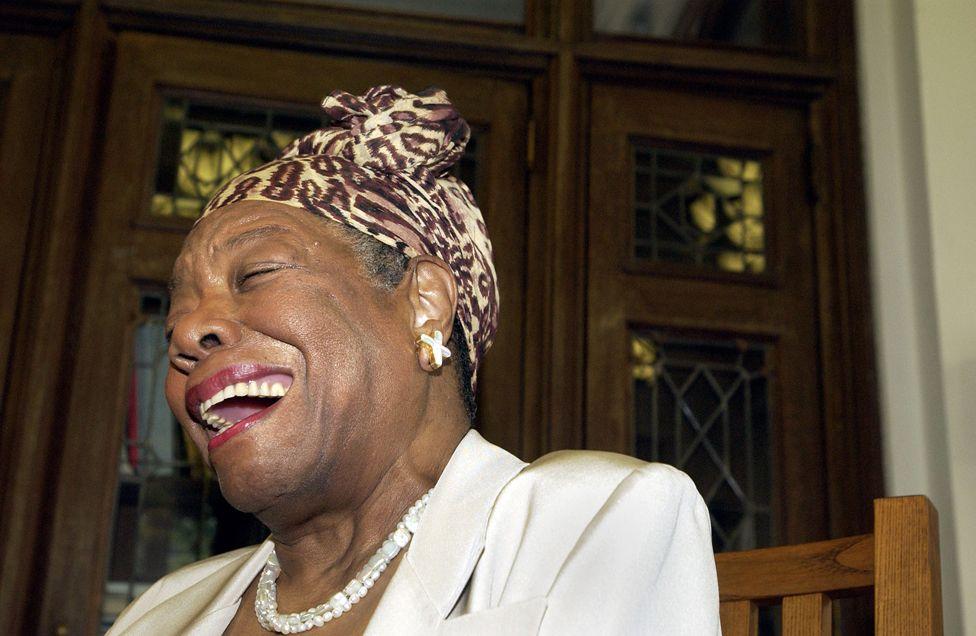 Maya Angelou laughing